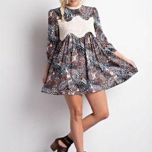 Wishlist 3/4 Sleeve Paisley Floral Dress